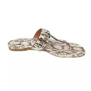 New Coach Jaclyn Leather Thong Slippers